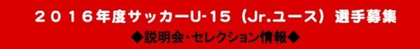 デールさいたまU-15選手募集